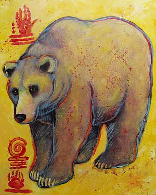 Painting - Big Ole Grizzly Bear by Carol Suzanne Niebuhr