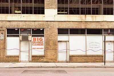 Photograph - Big Orange Cleaners by Sharon Popek