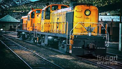 Train Photograph - Big Orange by David Millenheft