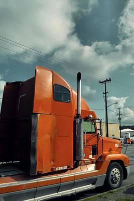 Photograph - Big Orange Truck by Patricia Strand