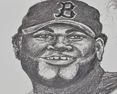 Big Papi Drawing - Big Papi Sketch by Emily Michaud