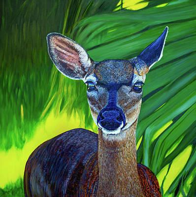 Painting - Big Pine Key Deer  by Manuel Lopez