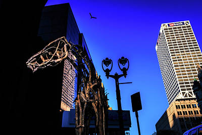 Photograph - Big Piney Sculpture In Downtown Milwaukee by Jeanette Fellows