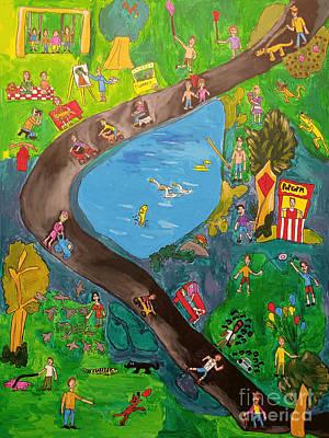 Painting - Big Playground by Brandon Drucker