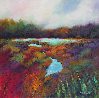 Painting - Big Pond In Fall Mc Cormick Woods by Marti Green