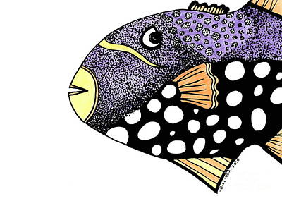 Big Purple Fish Art Print