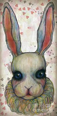 Avant Garde Mixed Media - Big Rabbit by Akiko Okabe