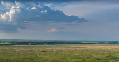 Photograph - Big Rain Clouds Gather Over A Steppe by John Williams