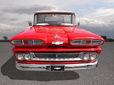 Photograph - Big Red - 1960 Chevy by Gill Billington