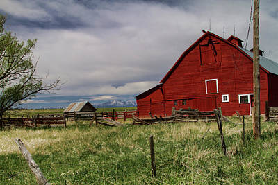 Photograph - Big Red Barn by Alana Thrower