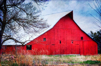 Photograph - Big Red Barn by Anna Louise