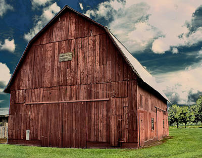 Photograph - Big Red Barn by Deena Stoddard