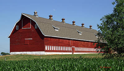 Print featuring the photograph Big Red Barn In Spring by Edward Peterson