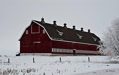 Big Red Barn In The Winter Art Print