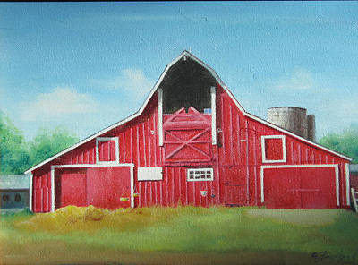 Big Red Barn Art Print