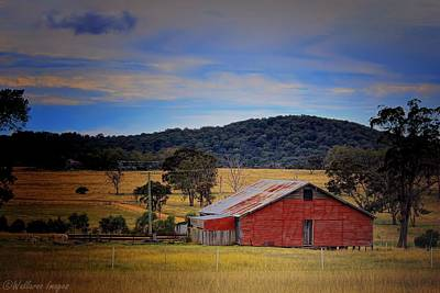 Photograph - Big Red Barn by Wallaroo Images
