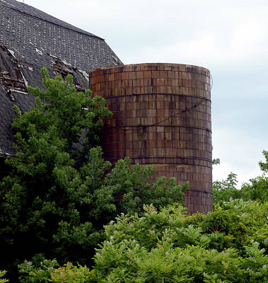 Photograph - Big Red Beauty - Silo by Leslie Montgomery