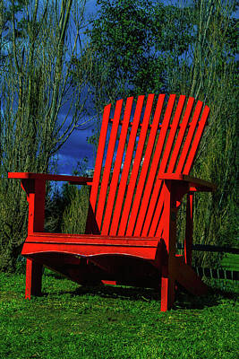 Big Red Chair Art Print