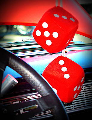 Photograph - Big Red Dice by Kimberly-Ann Talbert