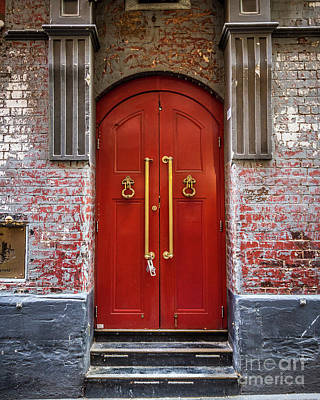Photograph - Big Red Doors by Perry Webster