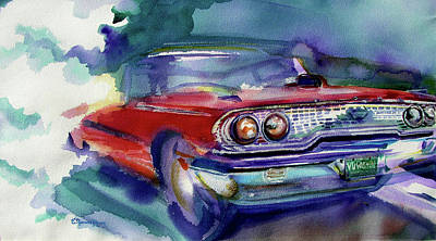 Big Red Art Print by Evelyn Sprouse Rowe