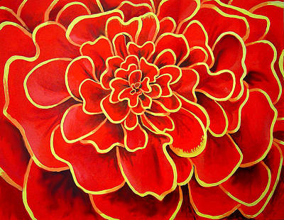 Painting - Big Red Flower by Geoff Greene