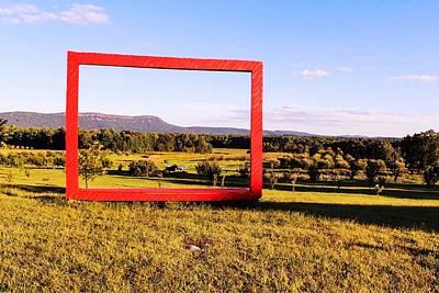 Photograph - Big Red Frame Easthampton by Sven Kielhorn