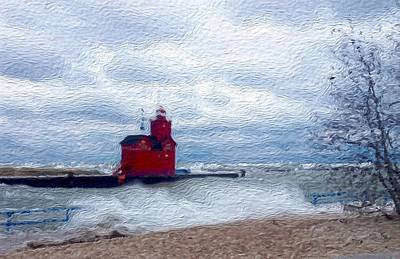 Lake Michigan Digital Art - Big Red by Jennifer Whitworth