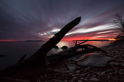Gichigami Photograph - Big Red Sky, Point Place 2 by Jakub Sisak