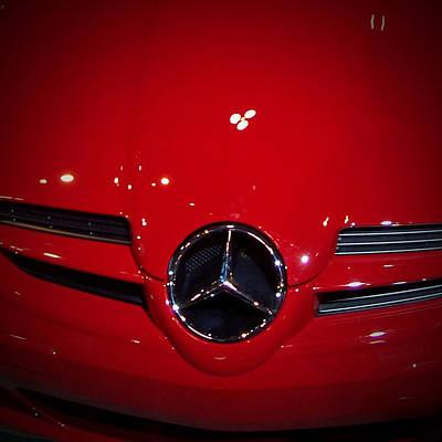 Car Badges Photograph - Big Red Smile - Mercedes-benz S L R Mclaren by Serge Averbukh