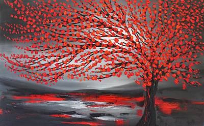 Painting - Big Red Tree by Preethi Mathialagan