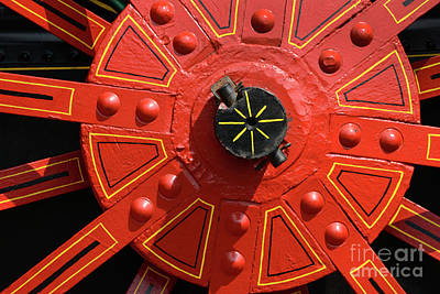 Photograph - Big Red Wheel - 141 by Paul W Faust - Impressions of Light