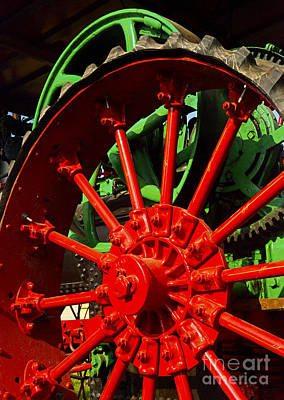 Photograph - Big Red Wheel - 38 by Paul W Faust -  Impressions of Light