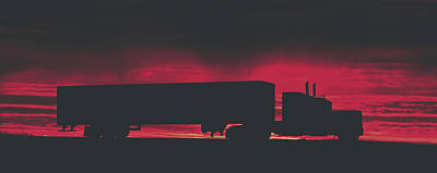 Photograph - Big Rig At Sunset by Pixabay