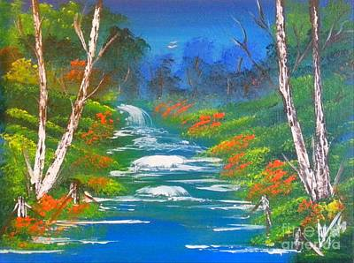 Jamaican Painting - Big River by Collin A Clarke