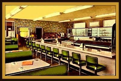 Malibu Mixed Media - Big Rock Beach Cafe, Malibu Ca, 1955 by Dwight GOSS