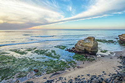 Photograph - Big Rock On The Beach by Joseph S Giacalone