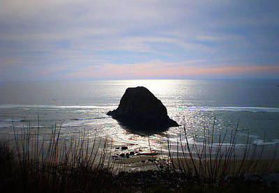 Photograph - Big Rock Silhouette by Nadalyn Larsen