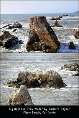 Photograph - Big Rocks In Grey Water Duo by Barbara Snyder