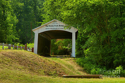 Photograph - Big Rocky Fork Covered Bridge by Adam Jewell