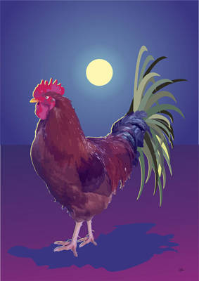 Big Rooster Art Print