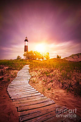 Big Sable Lighthouse Color Art Print by Todd Bielby