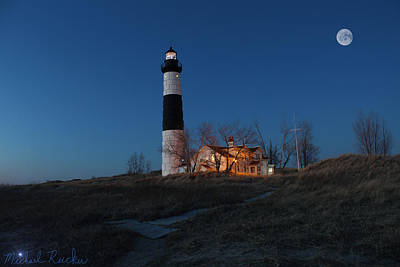 Photograph - Big Sable Lighthouse Sunset by Michael Rucker