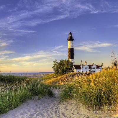 Big Sable Lighthouse Art Print by Twenty Two North Photography