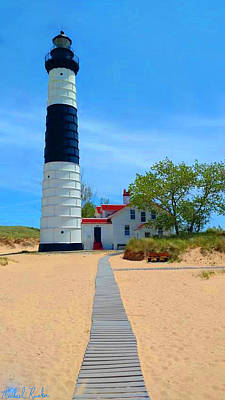 Photograph - Big Sable Point Light by Michael Rucker