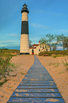 Photograph - Big Sable Point Lighthouse Walkway by Dan Sproul