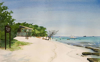 Big Sand At Lime Cay Art Print by Anji Worton