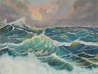 Big Seas Art Print by Barbara Keel