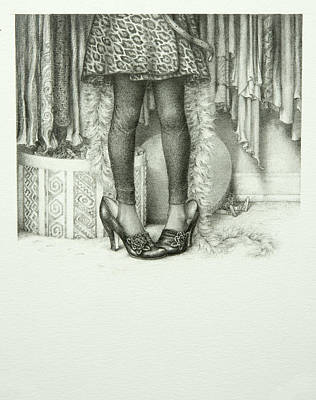 Drawing - Big Shoes by Lynn Bywaters
