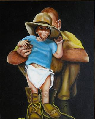 Painting - Big Shoes To Fill by Joni McPherson